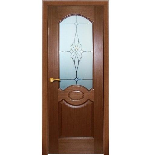 Межкомнатная дверь КАРАМЕЛЬ (Шпон ,орех)
