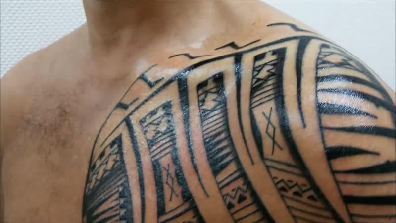 Samoan Tatau. Freehand (Rinline)
