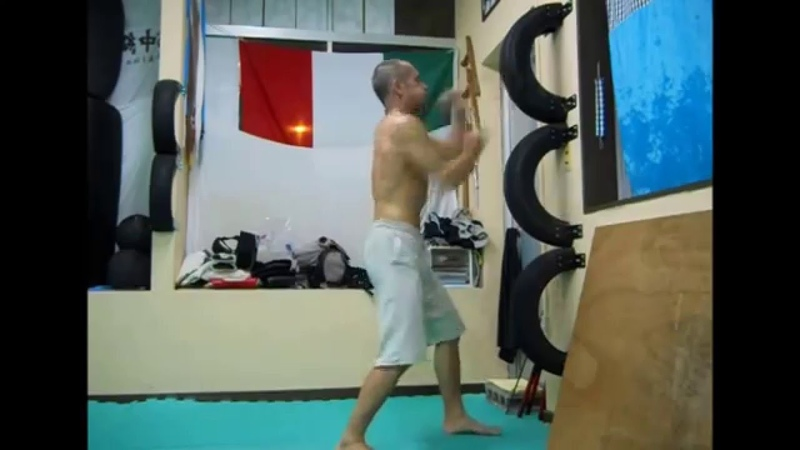 Wing Chun sparring with tires. O.R.A.