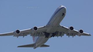 взлёт пары B747-8 Air China Внуково 2019 VKO B-2479 B-2482 takeoff
