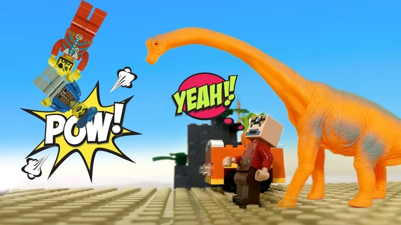 TINY LEGO The dinosaur returned the favor Lego 2019