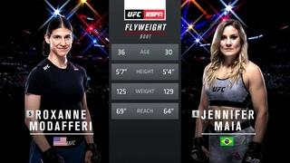 UFC Fight Night 157 1 сезон Роксанн Модаферри VS Дженнифер Майа