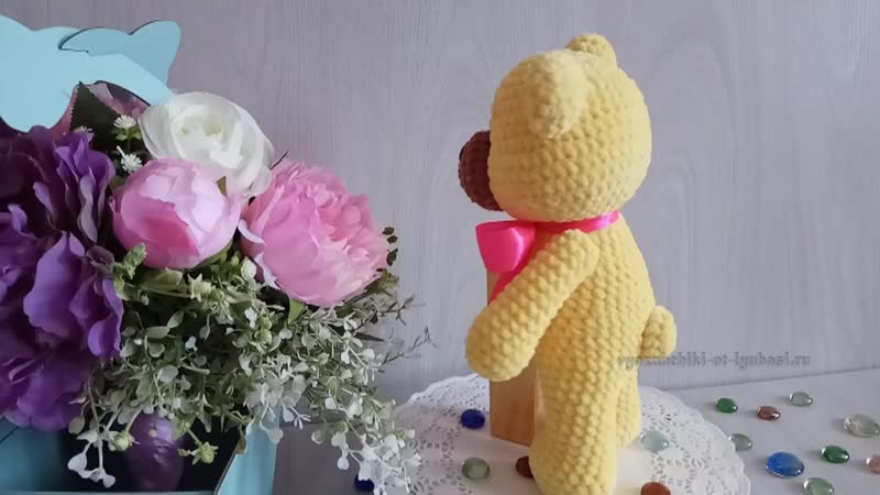 Вязаная игрушка Мишка Тишенька