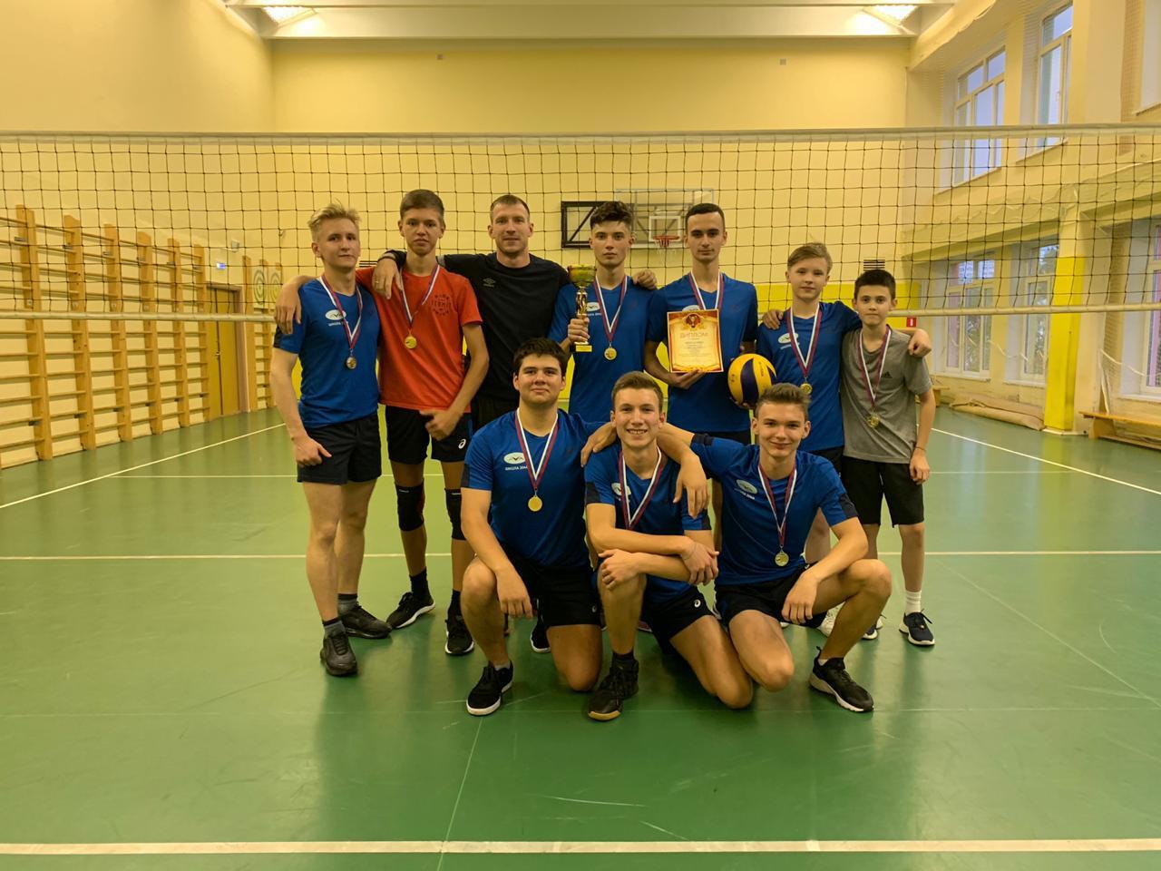 Учащиеся школы № 2048 стали победителями окружных соревнований по волейболу
