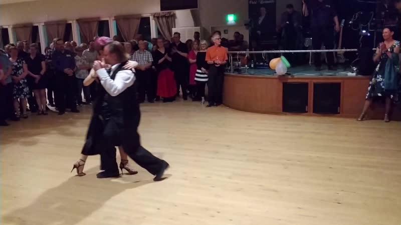 Алексей Барболин Хельга Домашова Выступление в танцевальном зале Напис Финляндия 30 04 2019 3 4