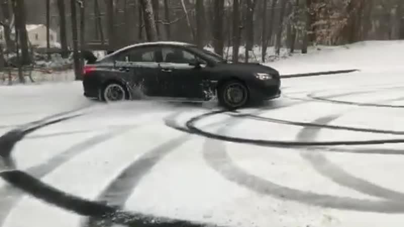 Subaru wrxsti snow