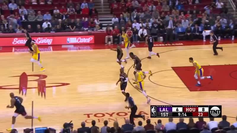 James Harden Murders JaVale McGee with EPIC Dunk Rockets vs
