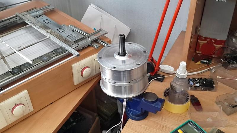 Самодельное мотор колесо 36/48 вольт 800/1000 ват из гироборда ЧАСТЬ № 2