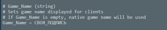Название игры в поиске серверов, изображение №5