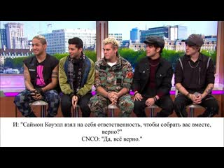 Piers has a beatboxing battle with latin american boy band cnco good morning britain [rus sub]