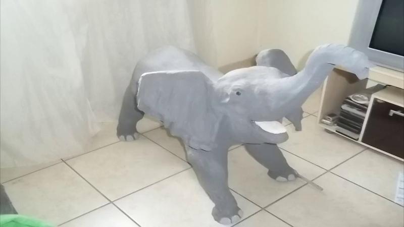 Como fazer um elefante de cimento * escultura*
