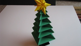 Origami Christmas Tree - Santa Claus Tutorials