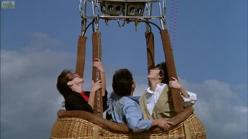 Прыжок на воздушный шар.Доспехи бога Armour of God (1987).Фрагмент из фильма