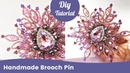 How to Make Saree Pin. Handmade Beaded Saree Brooch Making.