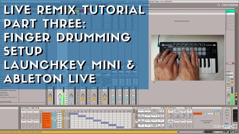 How to Set Up Finger Drumming - Novation Launchkey Mini Ableton Live Tutorial