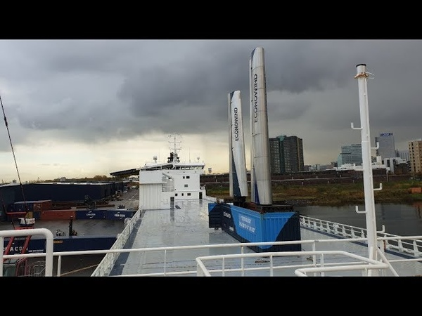 Econowind system is being tested on the DFDS ship Lysbris Seaways