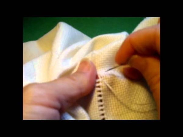 Curso de bordado básico 20 Dobladillo con vainica