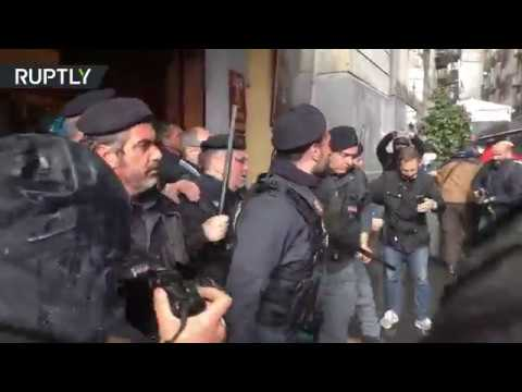 Italian police clash with unemployed ahead of Democratic Party leader meeting