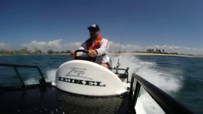 Zego sports boat demo from Zeikel