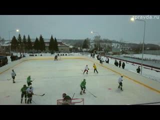 Жители Нижнеураспугинского сельского поселения провели хоккейный матч