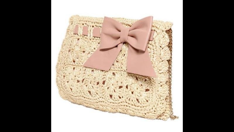 Подборка вязаных сумок крючком со схемами Вязаные сумки Вязание крючком