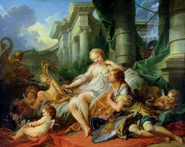 ЗЕРКАЛО ПРАВЛЕНИЯ ЛЮДОВИКА XV. ФРАНЦУА БУШЕ Безрассудный сибарит, фривольный художник, олицетворение «стиля мадам де Помпадур» какие только ярлыки ни навешивала критика на мастера. А ведь его