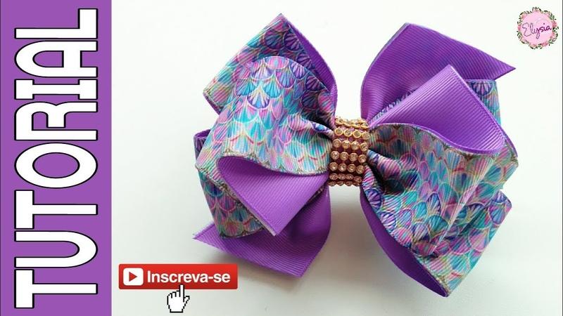 Laço Elysa Fita N9 🎀 Ribbon Bow Tutorial 🎀 DIY by Elysia Handmade