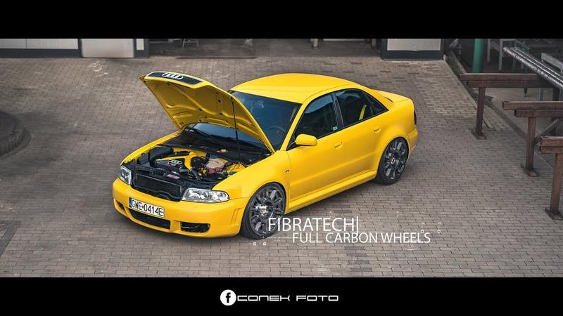 Audi RS4 Limo 600PS Fibratech full CARBON wheels ★ CONEK FOTO ★ 4K
