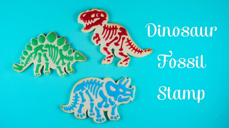 Dinosaur Fossil Cookies - Cookie Cutter Stamps