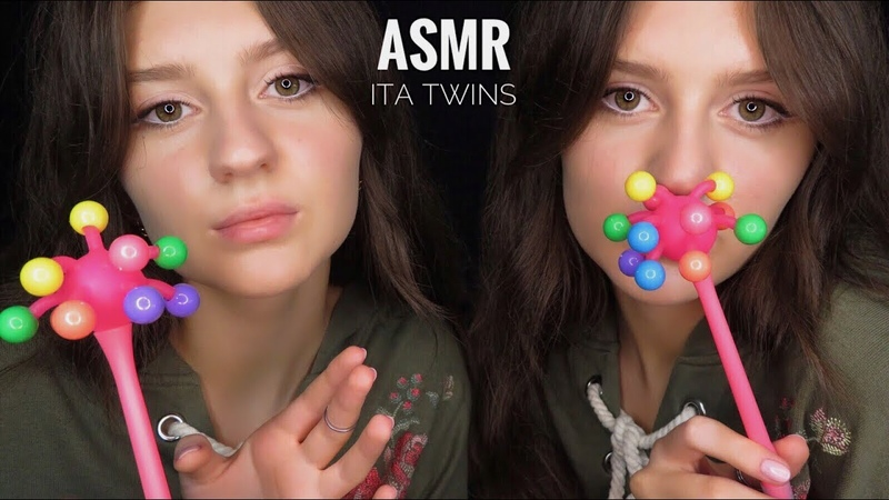 ASMR ITA 🇮🇹 Twins DOUBLE Relax 😴 Triggers Tapping Scratching Slime 😍