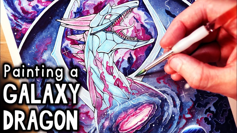 Let s Paint a GALAXY DRAGON FANTASY ART FRIDAY