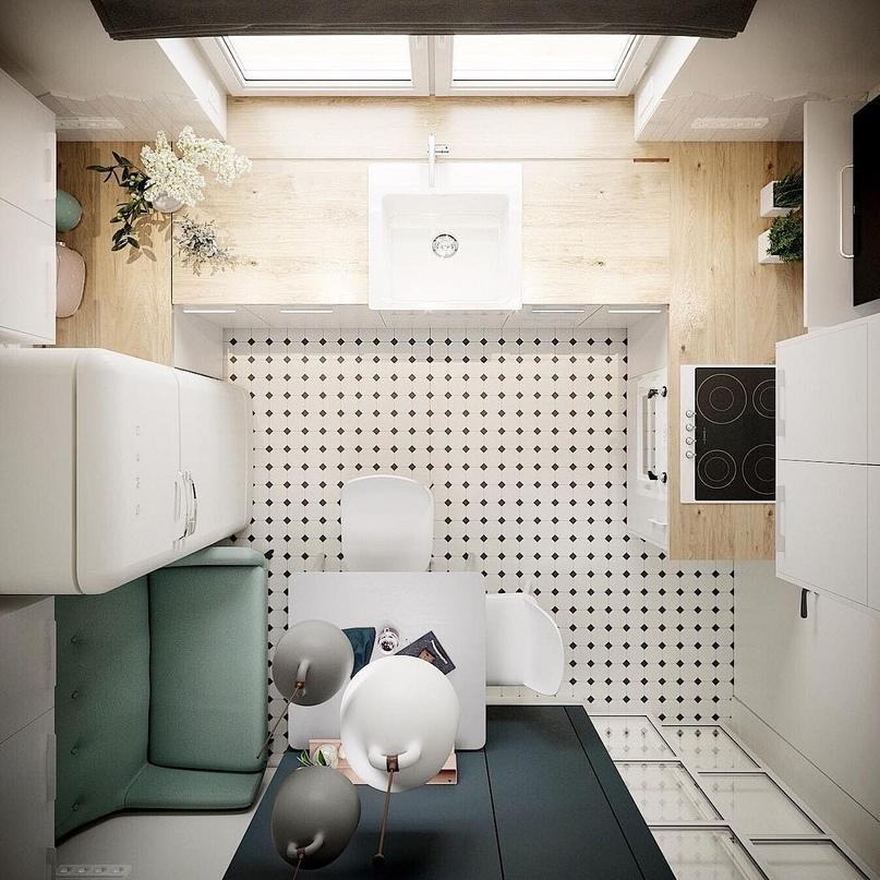 5 маленьких кухонь, в которых задействовано все полезное пространство, изображение №2