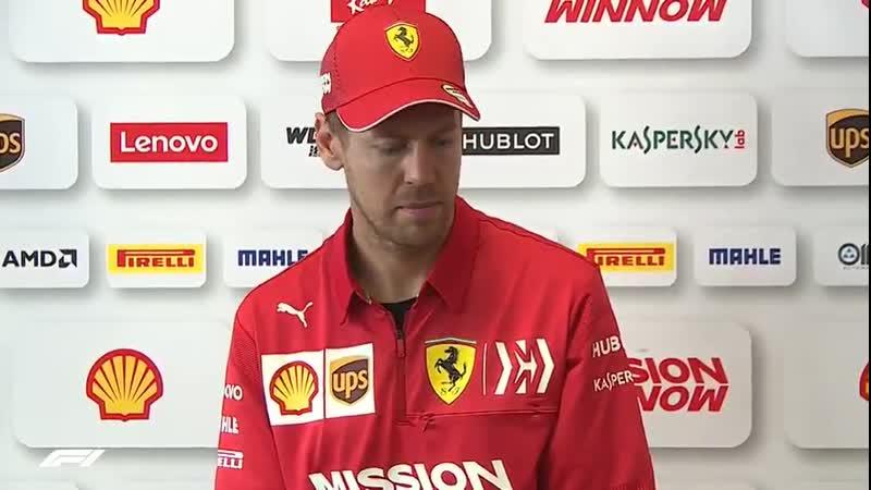 Thursday Interviews Seb talks about Verstappens comments on Ferraris engine ГП Бразилии 2019 Четверг
