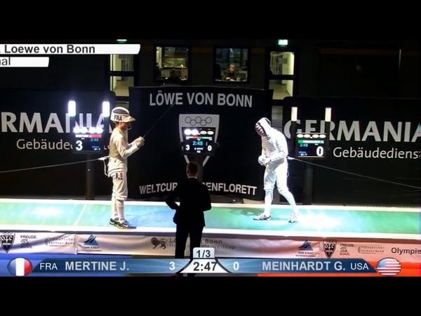CdM FH Bonn 2019 finale Mertine FRA vs Meinhardt USA