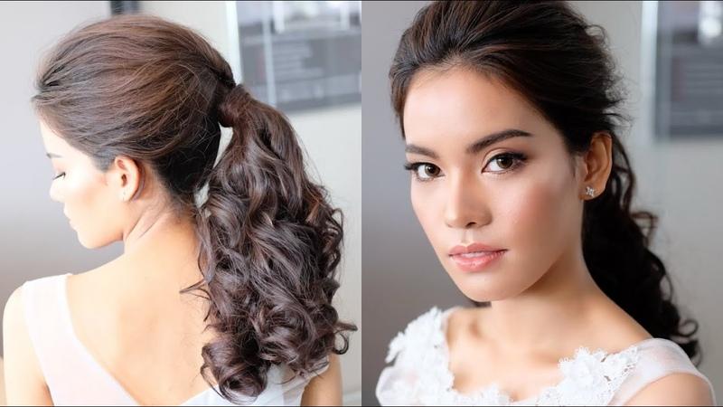 Simple And Beautiful Ponytail Hairstyles For Long Hair ทรงผมเจ้าสาวแบบหาม้า ทำง่ายๆ โดยครูหญิง ภัครา