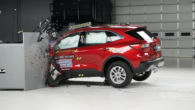 2020 Ford Escape driver side small overlap IIHS crash test