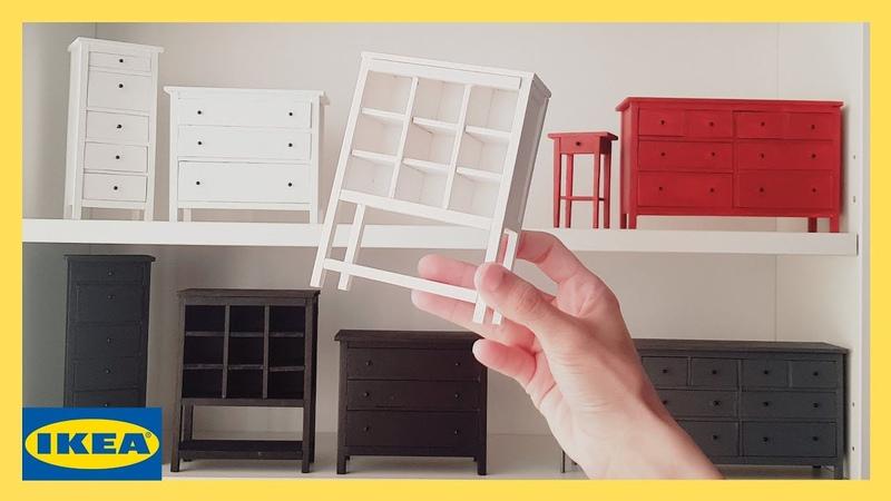DIY Storage Unit IKEA Hemnes Miniature Furniture Enable subtitles