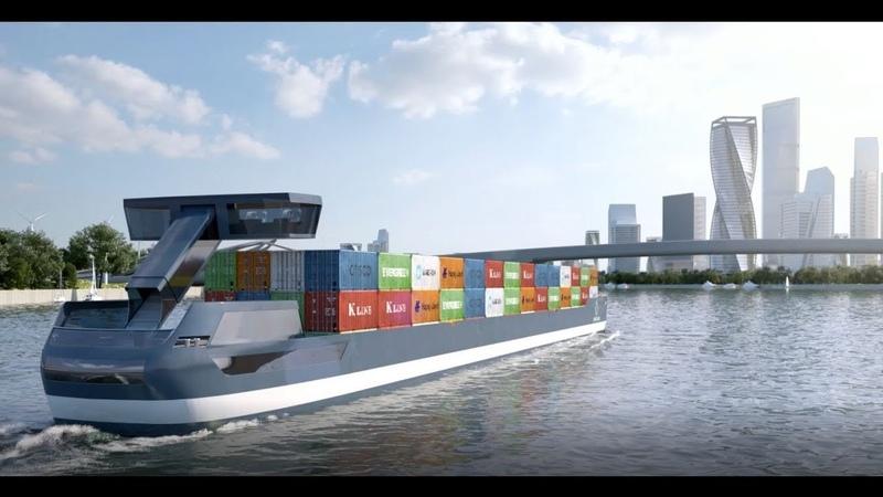 PortLiner electric Barge Omega Architects