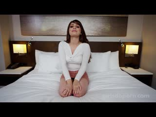 GirlsDoPorn - Beautiful Brunette in Peach Skirt (1080p)
