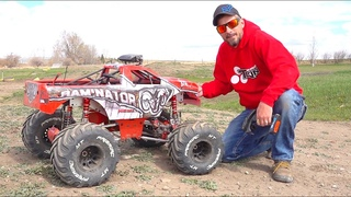 "HUGE ""TOY"" TRUCK gets a PROPER BEATiNG! 49cc GAS POWERED PRiMAL RC RAMiNATOR MT 