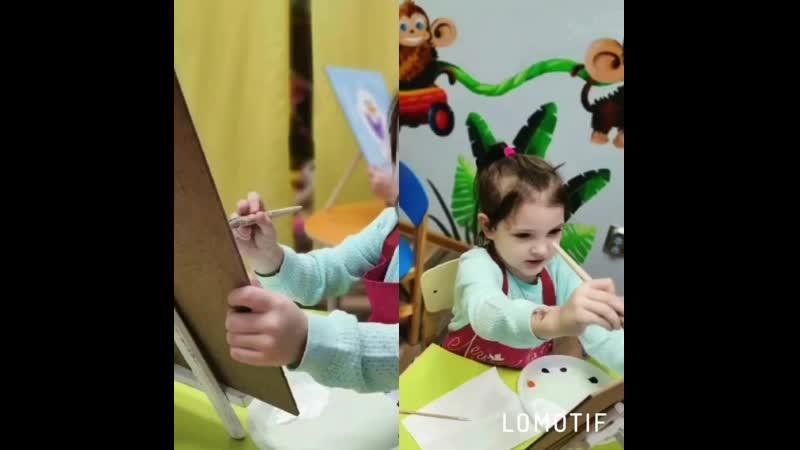 ⠀ Счастье рисовать 🎨 ⠀ Небольшой фотоочет с нашего очередного мастер класса по живописи 📸 ⠀ Как же здорово когда получается 2в1