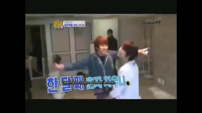 Daeyeol and sungyeol laugh