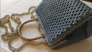 VIDEO TUTORIAL Pochette STAR Punto CANESTRO Allungato INCROCIATO / Mel C Bags Handmade