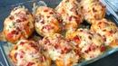 Patatas rellenas de atún bacon y queso Receta paso a paso