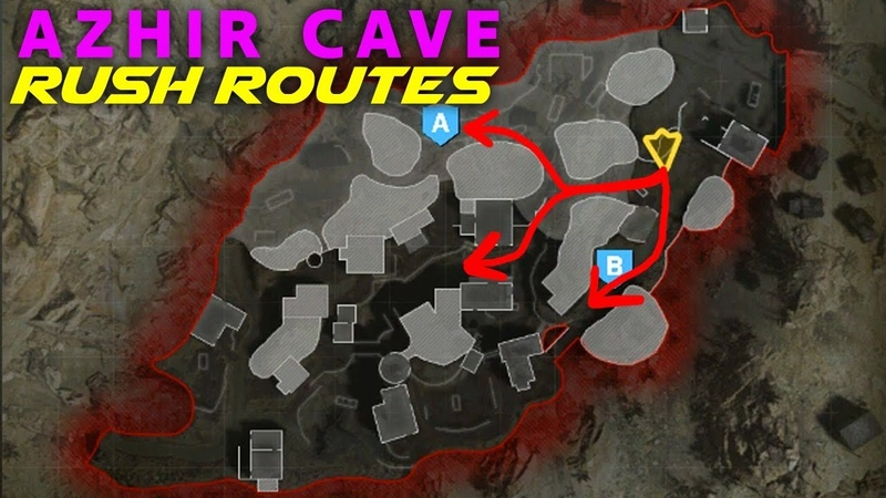 BEST Modern Warfare Search and Destroy Rush Routes on AZHIR CAVE! (MW SnD Tips)