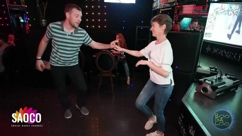 Павел Войтов и Марина Ванюшина танцуют сальсу на вечеринке танцевального клуба BOOGALOO 28.04.2019