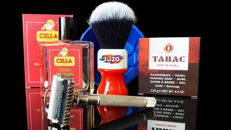 💈 Первое бритье в 2020 м году ШИКАРНЫМ ВИНТАЖНЫМ станком J A HENCKELS RAPIDE Tabac Cella Yaqi