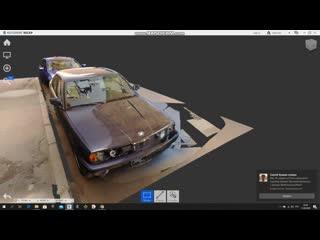 геодезическое наземное лазерное сканирование автомобиля