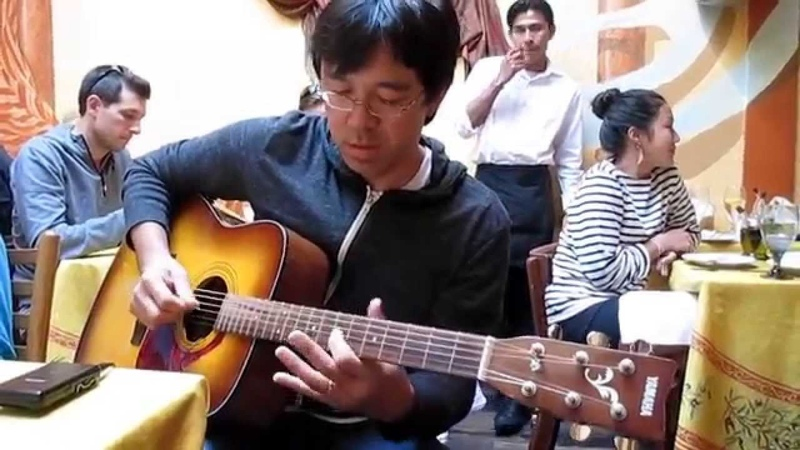 Acoustic jam funky SRV blues at lunch アコギ