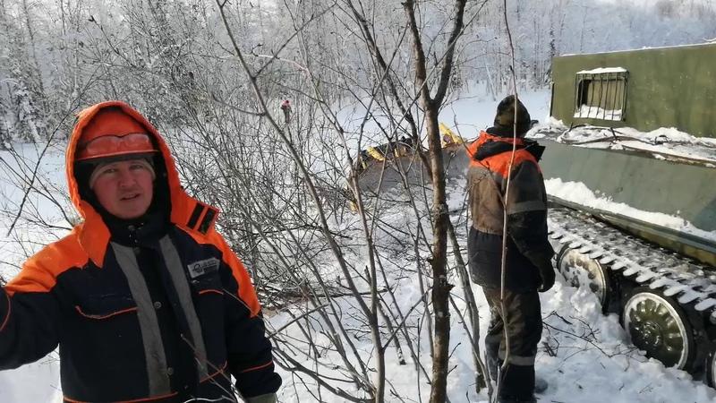 Как тонет на севере спец техника северо пуровское месторождение
